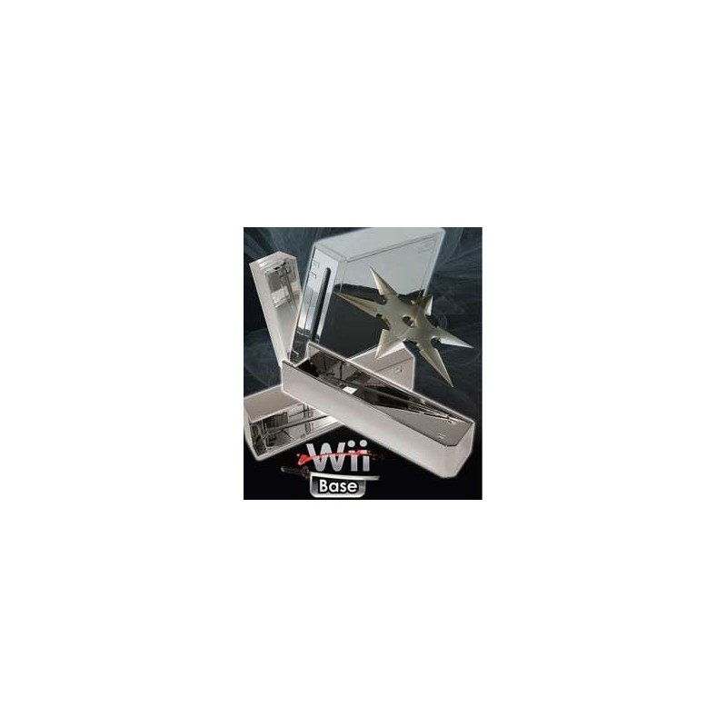 Base Stand Wii -PLATA CROMADO-
