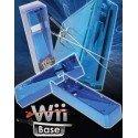 Base Stand Wii -AZUL CROMADO-