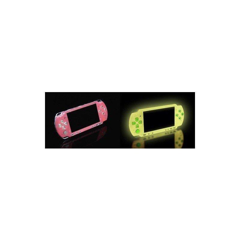 Carcasa superior FLUORESCENTE PSP 2000  - Rosa -