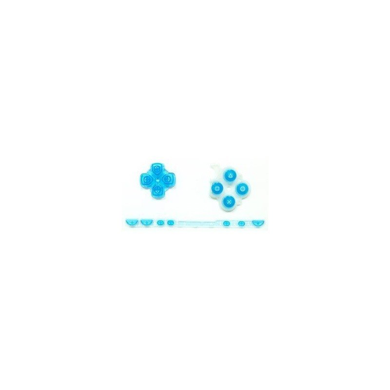 Kit Botones PSP 2000 ( Azul Transparente )