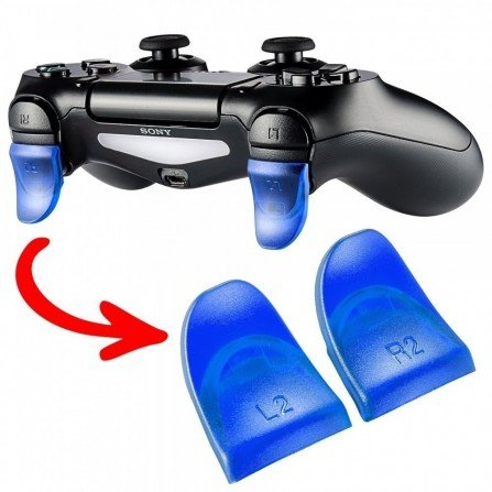 Prolongador extensor de gatillos mando PS4 AZUL (Version A)
