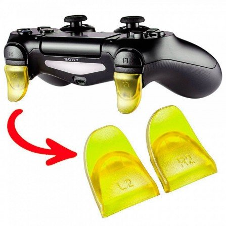 Prolongador extensor de gatillos mando PS4 AMARILLO (Version A)