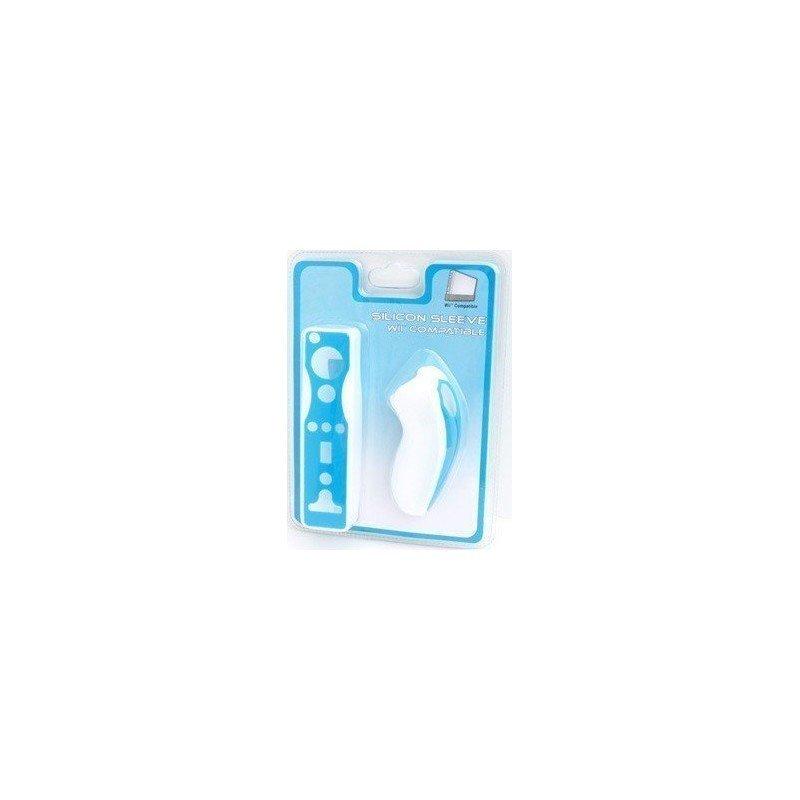 Protectores Silicona para mandos Wii PLAYERGAME *Azul / Blanco*