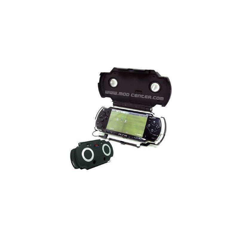 Estuche HOME CINEMA  con altavoces PSP 2000/3000 (BLANCO)