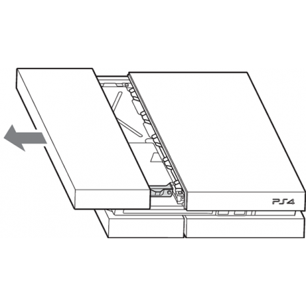 Tapa HDD Disco Duro PS4  Fat - Mate blanca
