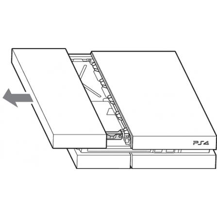 Tapa HDD Disco Duro PS4 Fat - Brillo NEGRA (ORIGINAL)