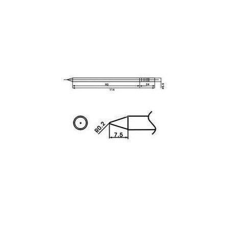 Cartucho soldador punta Redonda AOYUE ( WQ-B )