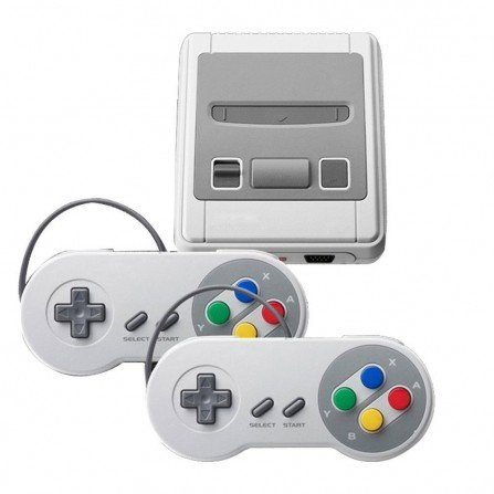 Super Nintendo SNES Mini clasica + 2 mandos + 621 JUEGOS