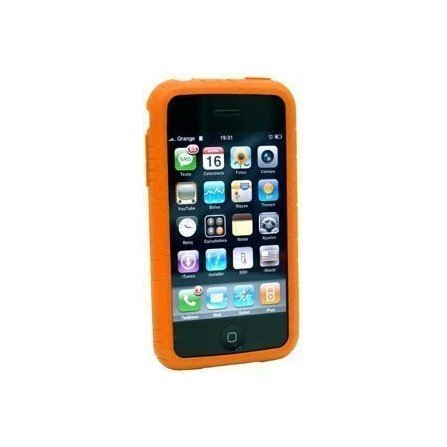 Funda silicona iPhone 3G / 3Gs ( Naranja )