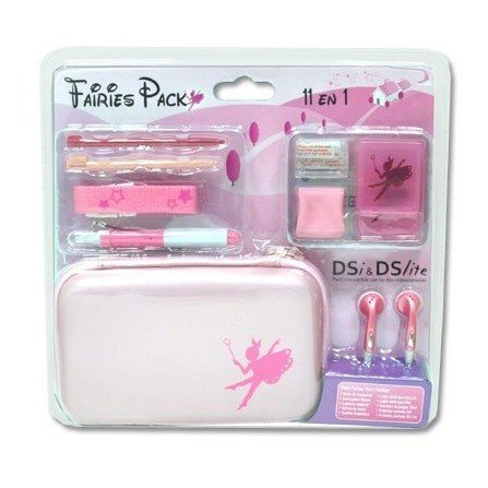 Pack Accesorios PlayerGame DSLite/DSi 11 en 1 ( Fairies )