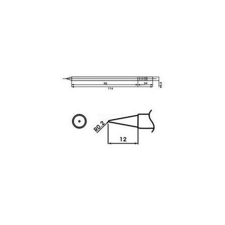 Cartucho soldador punta Redonda AOYUE ( WQ-LB )