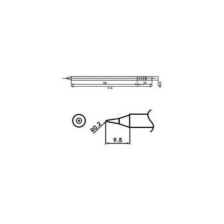 Cartucho soldador punta Redonda AOYUE ( WQ-I )