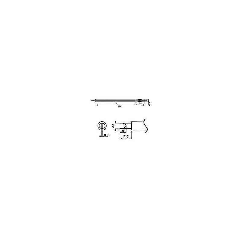 Cartucho soldador punta Redonda Inclinada AOYUE ( WQ-4D )