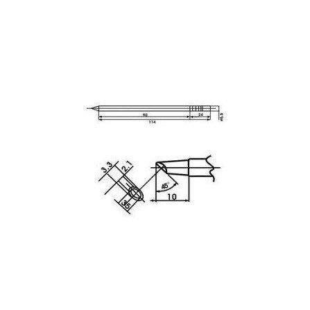 Cartucho soldador punta Biselada SPOON AOYUE ( WQ-3BCM )