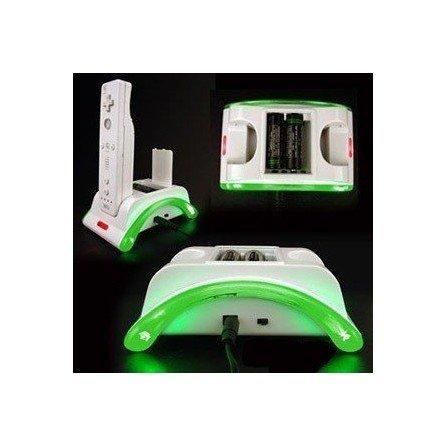 Doble base de carga Wii Remote y pilas + Toma de corriente