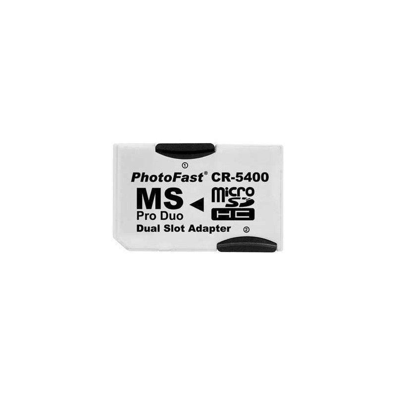Adaptador PhotoFast CR-5400 Dual MicroSD (HC) MS Pro Duo