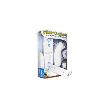 Combo de Mandos Playergame Wii Remote + Wiimotion plus + Nunchuck  ( Blanco )