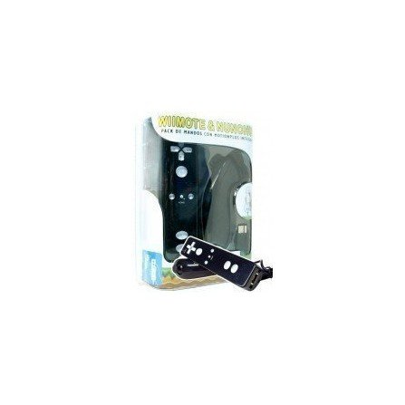 Combo de Mandos Playergame Wii Remote + Wiimotion plus + Nunchuck ( Negro )