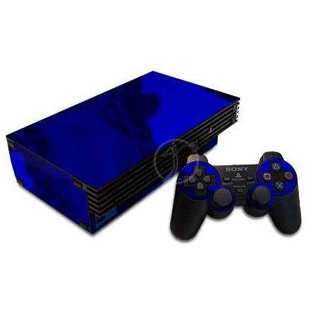 Cromado Azul + 1 skin mando PS2