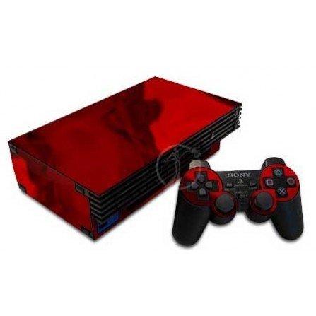 Cromado rojo + 1 skin mando PS2