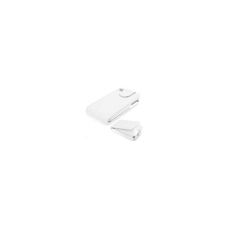 Funda de piel iPhone 4G / 4s ( Blanca )