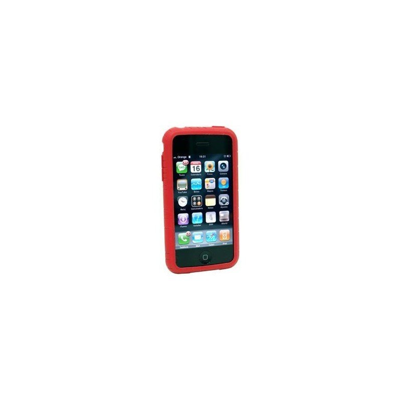 Funda silicona iPhone 3G / 3Gs ( Roja )Funda silicona iPhone 3G / 3Gs ( Roja )