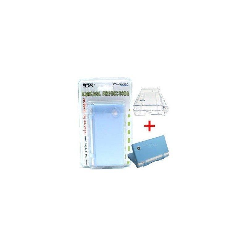 Carcasa protectora + Funda de silicona DSi 2 en 1 ( Azul )