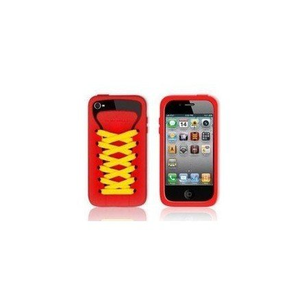 Funda silicona iPhone 4G / 4s ( Zapatilla Roja )