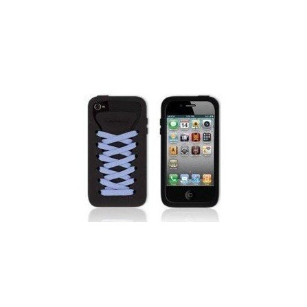 Funda silicona iPhone 4G / 4s ( Zapatilla Negra )