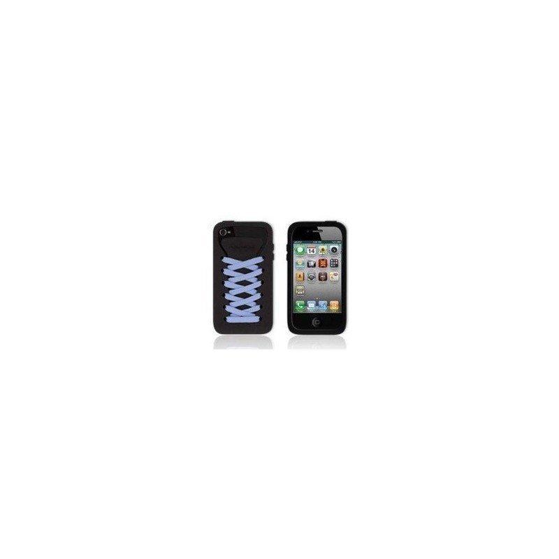 Funda silicona iPhone 4G / 4s ( Zapatilla Negra )