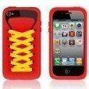 Funda silicona iPhone 4G / 4s ( Zapatilla Roja )