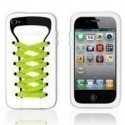 Funda silicona iPhone 4G / 4s ( Zapatilla Blanca )