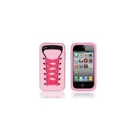 Funda silicona iPhone 4G / 4s ( Zapatilla Rosa )