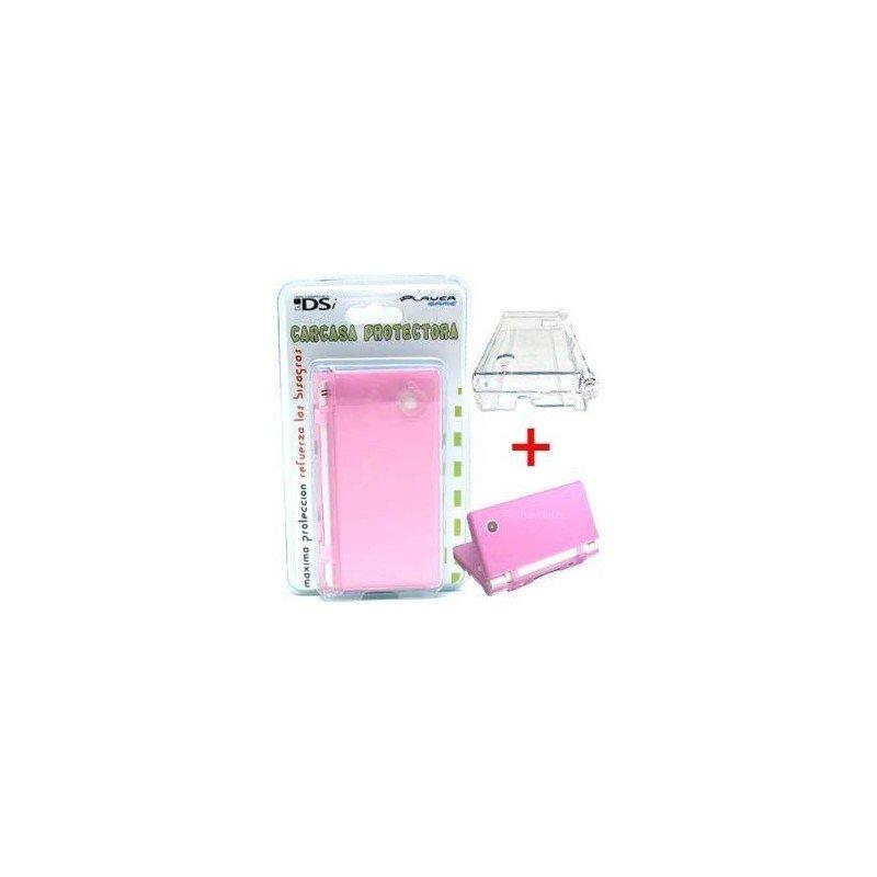Carcasa protectora + Funda de silicona DSi  2 en 1 ( Rosa )