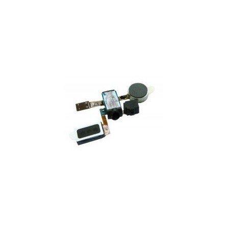 Flex Vibrador + Altavoz Sup + Conector Auricular + Microfono para Samsung I9100 Galaxy S2 / SII