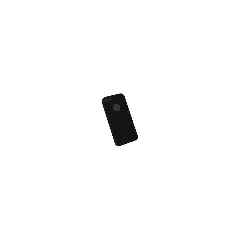 Funda silicona circulos iPhone 5 ( Negra )