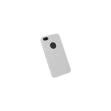 Funda silicona circulos iPhone 5 / 5s ( Blanca )
