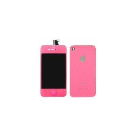 Pantalla Retina LCD + Tactil + Carcasa trasera + Boton home iPhone 4G ( Set conversión Rosa )