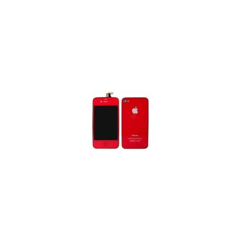 Pantalla Retina LCD + Tactil + Carcasa trasera + Boton home iPhone 4S ( Set conversión Rojo )