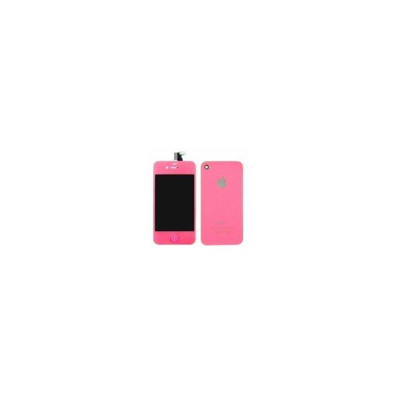 Pantalla Retina LCD + Tactil + Carcasa trasera + Boton home iPhone 4S ( Set conversión Rosa )