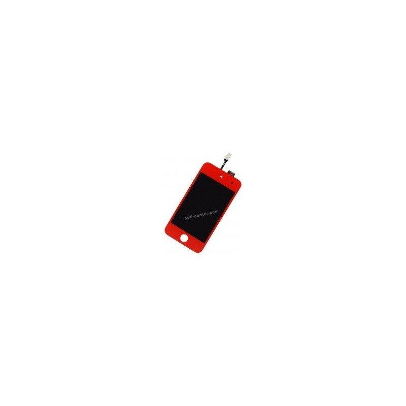 Pantalla LCD + Tactil Ipod Touch 4 ROJA