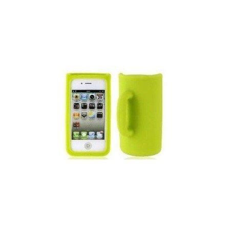 Funda silicona iPhone 4G / 4s (Taza Verde)
