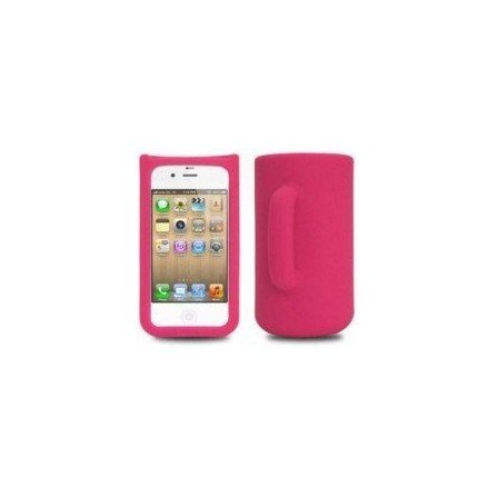 Funda silicona iPhone 4G / 4s ( Taza Rosa )