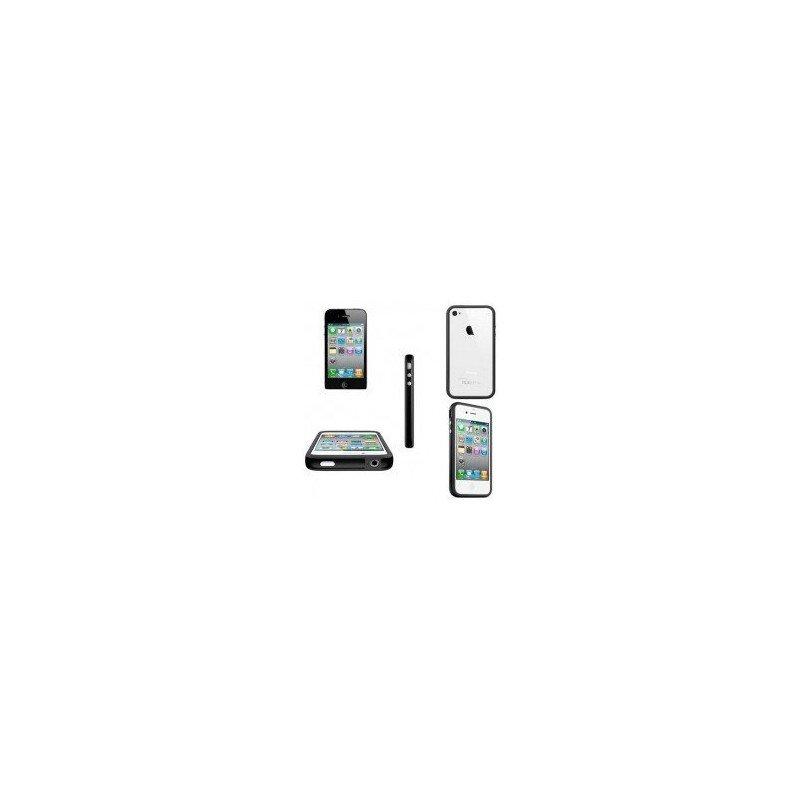 Funda Bumper TPU con botones cromados iPhone 4G / 4s ( Negra )