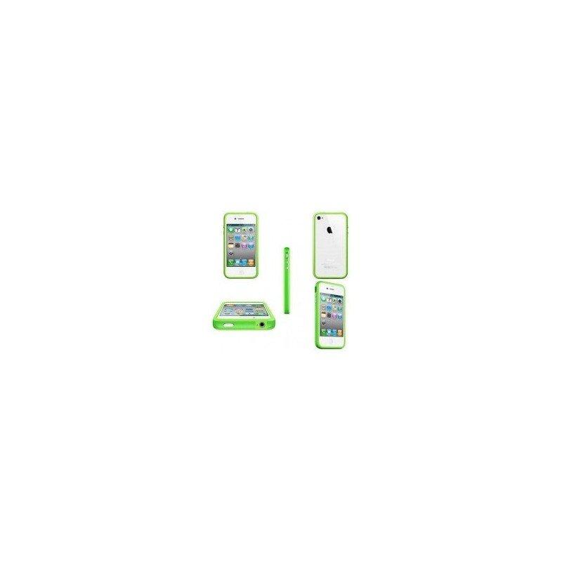 Funda Bumper TPU con botones cromados iPhone 4G / 4s ( Verde )