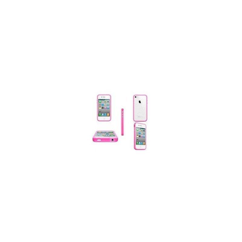 Funda Bumper TPU con botones cromados iPhone 4G / 4s ( Rosa )