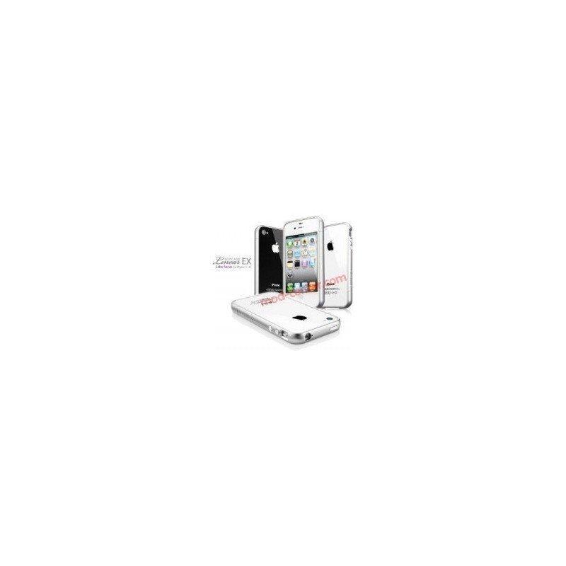 Funda Bumper Meteor Series con botones iPhone 4G / 4s ( Silver )