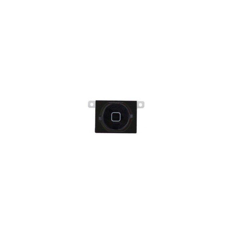 Boton HOME iPhone 4S + membrana de goma NEGROBoton HOME iPhone 4S + membrana de goma NEGRO
