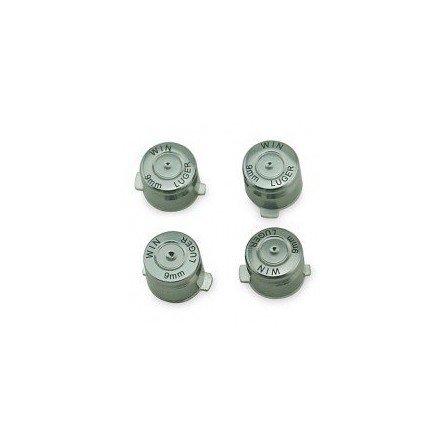 Botones aluminio casquillo de bala PS3 / PS4 - Plata -