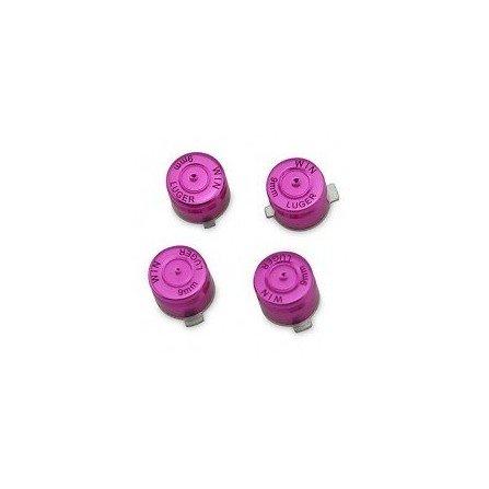 Botones aluminio casquillo de bala PS3 / PS4 - Morado -
